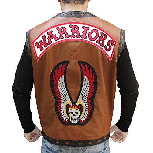 Icon Leather Vest (New The Warriors Michael Beck New Maroon Vest (Large))