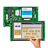STONE 5 Inch TFT Touch LCD Controller with Color Via RS232 Port for HMI & PLC Solution
