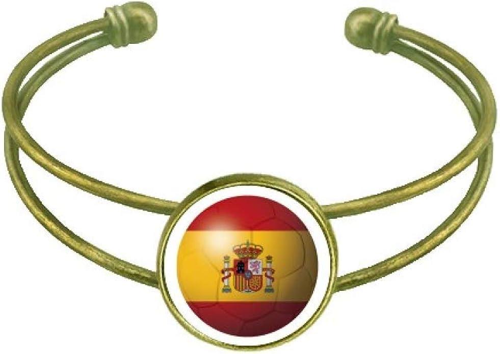 DIYthinker - Pulsera con diseño de bandera nacional de España: Amazon.es: Joyería