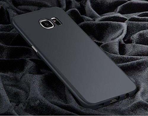 Funda Galaxy S6 Edge ,Vanki® Ultra Slim Anti-Rasguño y Resistente Huellas Dactilares Todo incluido Caso de Plástico Duro Cover Case para Samsung Galaxy S7 Edge Negro