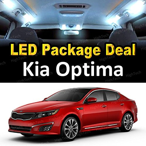 HighTechAutoAccessory - LED Interior Package Deal for 2014 Kia Optima (7 Pieces), WHITE