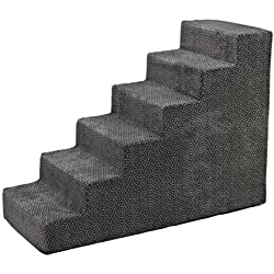 Bowsers Designer Pet Steps, 6 Step, Pewter Bones
