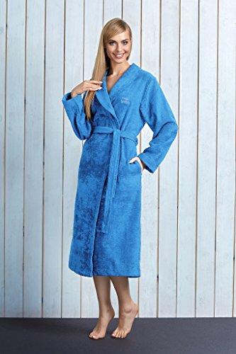 L&L Fibras de Bambú Albornoz para Mujer LL0013 Azul