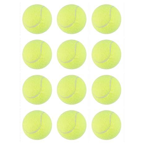 NOBLJX 12 Unids Pelotas de Tenis para Mascotas para Perros ...