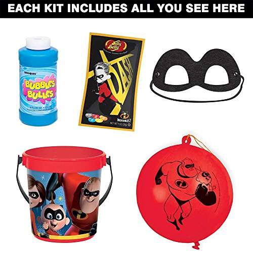Costume SuperCenter Incredibles 2 Favor Kit