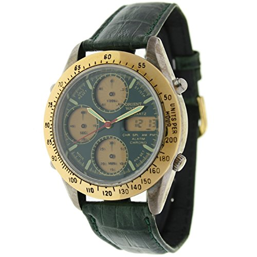 Orient Watch Hd-8221-d Reloj Analogico/Digital para Hombre Caja De Metal Esfera Color Verde: Amazon.es: Relojes