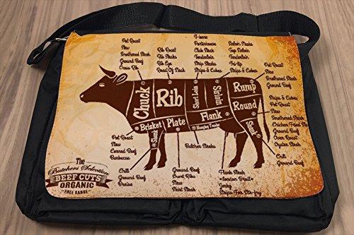 Borsa Tracolla Alimentare Ristorante Carni bovine Stampato