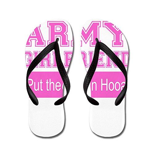 Fidanzata Esercito Cafè Ooo In Hooah_pink - Infradito, Sandali Infradito Divertenti, Sandali Da Spiaggia Neri