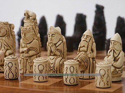 専門ショップ Berkeley (cream/ Medieval Medieval ornamental B07BT632DF Chess set (cream/ brown, no board) B07BT632DF, 得値厨房:41a0db8c --- nicolasalvioli.com