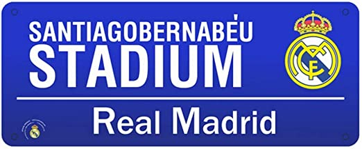 Metal Street Sign Real Madrid
