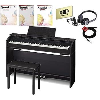 casio privia px 860 88 key digital piano bundle with headphones bench cables cloth. Black Bedroom Furniture Sets. Home Design Ideas