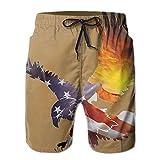 2018 pants Men's Beach Shorts Swim Trunks Sunset American Flag Eagle Board Shorts with Pockets