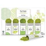 Tea Forté SINGLE STEEPS Organic Matcha Powder Green Tea Sampler, 15 Single Serve Pouches for Matcha Tea or Matcha Latte
