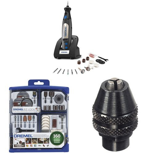 Dremel 8050-N/18 Micro Rotary Tool with 160-Piece Accessory Kit and MultiPro Keyless Chuck