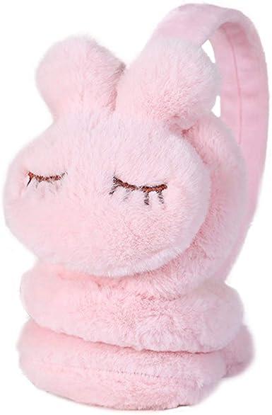 Womens Winter Earmuffs Cute Rabbit Ear Muffs Headbands Winter Warm Ear Warmers Outdoor Earmuffs