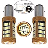 Bulbeats 1200 Lumens 2 X 92-BT Chipsets 1157 2057 2357 7528 1016 1334 BAY15D LED Bulbs with Projector Interior RV Camper Xenon White 6000K