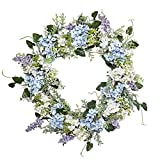 VGIA 20 Inch Artificial Flower Wreath Beautiful Silk Spring Wreath for The Front Door, Home Decor in Summer and Fall, Weddings
