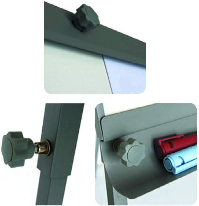beschreibbar hohe Qualit/ät Professionelles Flipchart mit Whiteboard magnetisch mobil und h/öhenverstellbar bis zu 195 cm Fester Stand auf f/ünf Rollen