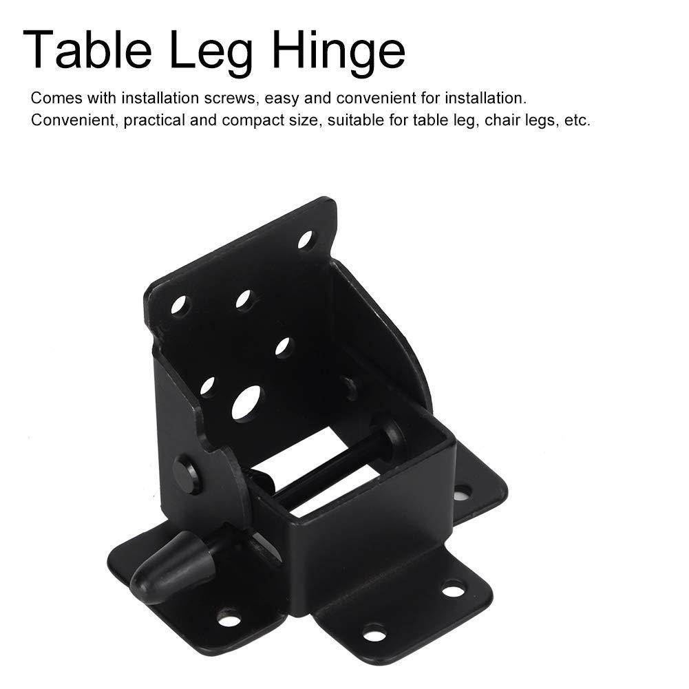 AUNMAS 4 St/ücke Faltbare Tisch Scharnier Stuhl Bein Halterung Schwere Unterst/ützung Selbstsichernde Scharniere mit Schrauben f/ür Zuhause