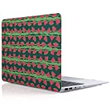 iDOO Matte Rubber Coated Soft Touch Plastic Hard Case for MacBook Air 13 inch Model A1369 and A1466 Watermelon