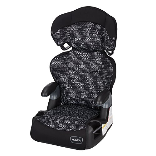 Princess Booster - Evenflo Big Kid AMP High Back Booster Car Seat, Static Black