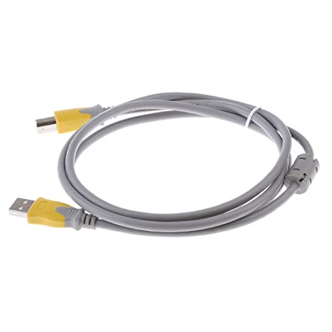 Sharplace Cable de Impresora USB 2.0 para Conectar Teclado Raton Escáner Accesorios Buena - Gris-
