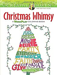 Creative Haven Christmas Whimsy A WordPlay Coloring Book Adult