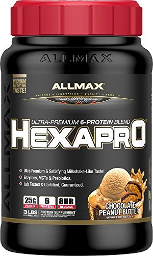 ALLMAX HEXAPRO, Ultra-Premium 6-Protein Blend, Dietary Supplement, Chocolate Peanut Butter Flavor, 3 Pound