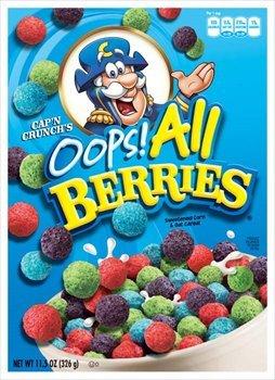 Amazon Com Quaker Cap N Crunch S Oops All Berries Cereal 11 5 Oz Pack Of 14 Breakfast Cereals 0 оценок / 0 отзывов. all berries cereal 11 5 oz pack of 14