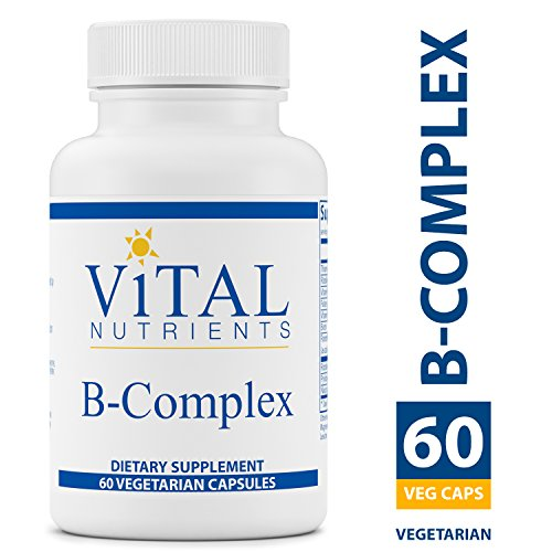 Vital Nutrients - B-Complex - Balanced High Potency B Vitamin Complex - Supports Energy Production, Metabolism and Heart Health - Gluten Free - 60 Vegetarian Capsules per Bottle