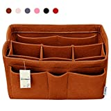 Hokeeper Felt Purse Insert Organizer, Handbag Organizer, Bag in Bag for Handbag Purse Tote, Diaper Bag Organizer, Stand on Its Own,10 Compartments, 4 Sizes, 6 Colors