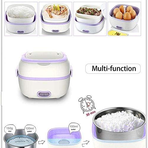 Mini fornello di riso Alimentatore portatile Riscaldamento a vapore Scatola di pranzo per conservazione di calore Scatola di pranzo elettrica multifunzionale Spina UE/Spina USA