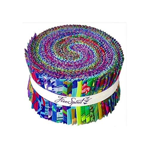 Kaffe Fassett Collective Fall 2017 Dusk Design Roll 40 2.5-inch Strips Jelly Roll FreeSpirit (Kaffe Designs Fassett)