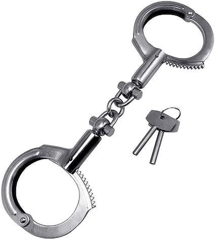 BLACK STANDARD HANDCUFFS WITH 2 KEYS POLICE SECURITY GAURDS  RESTRAINT