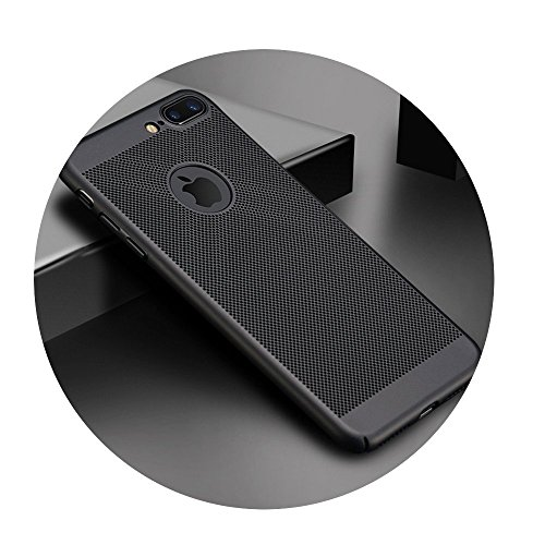 (Ultra Slim Phone Case For iPhone Hollow Heat Dissipation Cases Hard PC Black For iPhone 5 5S SE)