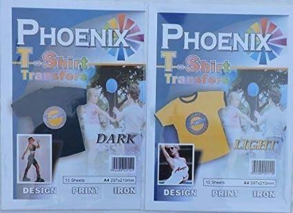 Phoenix Camiseta Papel de Calco - Luz y Oscuro - 20 de Cada ...