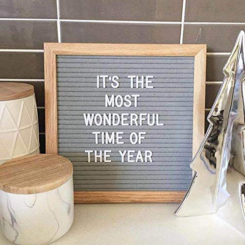 Plaques Signs - Home Office Decor Board Oak Frame White Letters Symbols Numbers Characters Bag Felt Letter Sign - Outdoor The Counter Number 20 Felt Wooden Bar Stand Menu