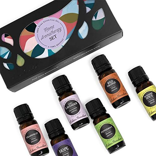 Home Aroma Set 100% Pure Therapeutic Grade Essential Oil Kit- 6/10 ml of Aroma Fresh, Citrus Cream, Grapefruit, Lavender (Bulgarian), Sweet Ambiance and Sweet Orange Aromatherapy Oils by Edens Garden