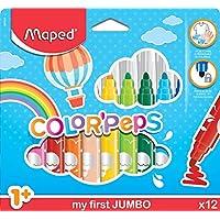 Maped Ofis Ve Kırtasiye 846020 Color'Peps Jumbo Keçeli Kalem, 12'Li