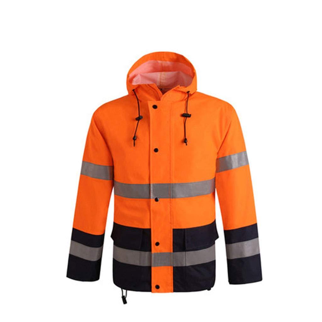JTWJ Reflektierender Regenmantel Fluoreszierende, rote Regenjacke für Regenjacken im Freien Regenjacke Atmungsaktive reflektierende Schutzkleidung (Farbe   Raincoat, größe   M)