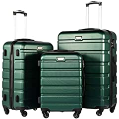 Coolife luggage set - We wish you a pleasant experience with your new suitcase from Coolife! This 3 piece suitcase set features one 28inch suitcase, one 24inch suitcase for checking in and one 20inch suitcase suitable for carrying onto the pl...