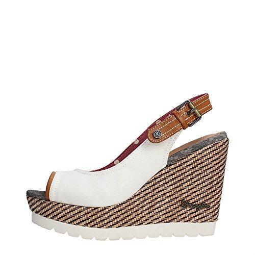 Wrangler WL161641 Zapatos De Cuña Mujer Fibras Textiles Bianco
