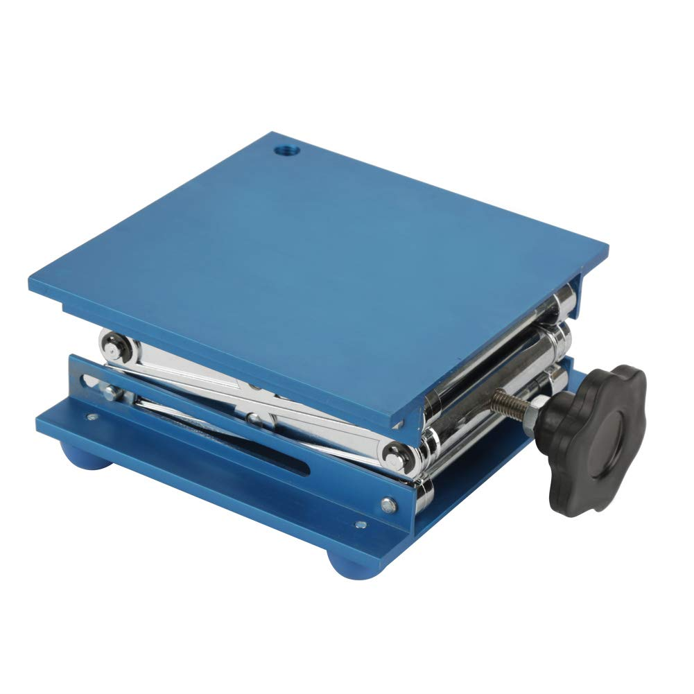 Aluminum Oxide LaboratoryScissorJackLiftTable, 150x150x250mm ScientificLabJack LiftingStandforLaboratories