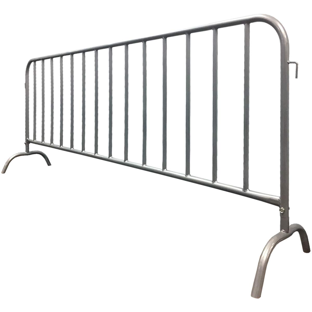 Electriduct 8.5 Feet Heavy Duty Steel Barrier Interlocking Crowd Control Barricade with Galvanized Finish (Pack of 10 Barricades) by Electriduct (Image #4)