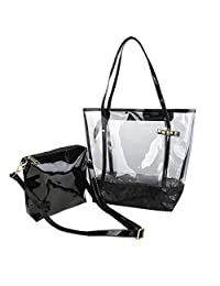 Zicac Woman Jelly Beach Bag PVC Transparent Tote Shoulder Bag Handbag Minimali
