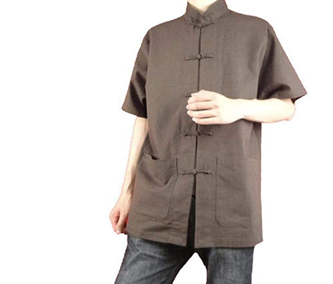 fbe109ad0f Fine Linen Brown Kung Fu Martial Arts Tai Chi Shirt Clothing XS-XL or Tailor  Custom Made + Free Magazine  Amazon.co.uk  Clothing