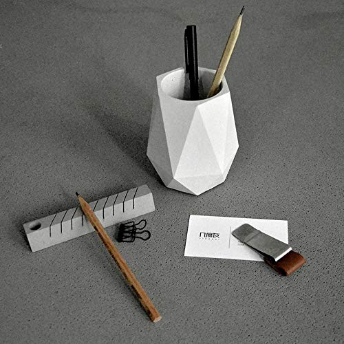 Concrete Planter Best Quality - Clay Molds - Creative Geometric Polygon Concrete Planter Pencil vase molds Office Decoration Clay Crafts Cement Pen Container Silicone Mold - by GTIN - 1 PCs