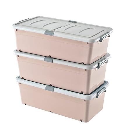 Storage Box Caja de Almacenamiento Inferior de la Cama, Caja de Almacenamiento de plástico,