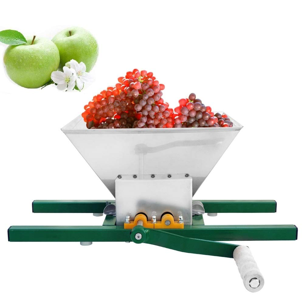 ECO-WORTHY 7 Litre Stainless Steel Apple Grinder Fruit Press Manual Juicer for Apple Juice apple crusher by ECO-WORTHY