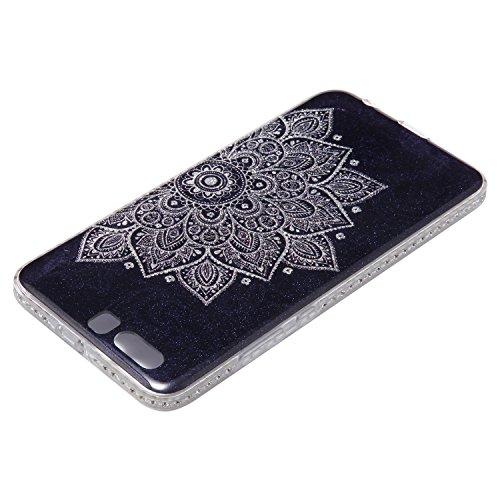 Funda Case Huawei P10 plus silicona,Ukayfe Ultra Delgado Flexible Suave TPU Gel Trasera Bumper Protector Carcasa Para Huawei P10 plus,Carcasa de 360 Protección con Pintura de Colores para teléfono por Blanco y negro